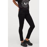 H&M Super Skinny Low Jeans 0399087019 Czarny denim