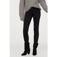 H&M Super Skinny Low Jeans 0399087019 Czarny