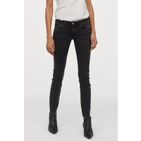 H&M Super Skinny Low Jeans 0399087019 Czarny/Washed out
