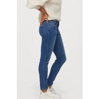 H&M Super Skinny Low Jeans 0399087019 Niebieski denim