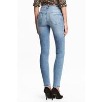 H&M Shaping Skinny Regular Jeans 0399136036 Niebieski denim/Sprany