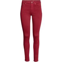 H&M Shaping Skinny Regular Jeans 0399136002 Czerwony