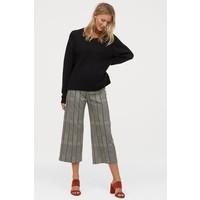 H&M MAMA Spodnie culottes 0795109001 Kremowy/Czarna krata