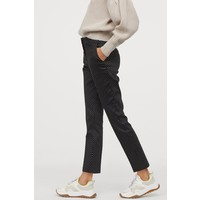 H&M Spodnie cygaretki 0751471003 Czarny/Białe kropki