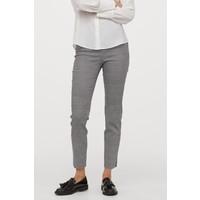 H&M Elastyczne spodnie 0655784003 Czarny/Krata