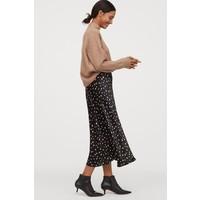 H&M Wzorzysta spódnica 0856732001 Czarny/Kropki
