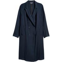 H&M H&M+ Dwurzędowy płaszcz 0577949001 Ciemnoniebieski