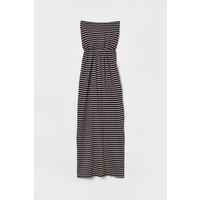 H&M Długa sukienka 0220094007 Czarny/Paski