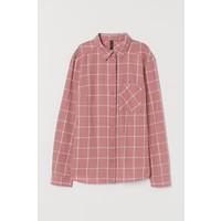 H&M Bawełniana koszula 0689365057 Antyczny róż/Biała krata