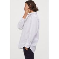 H&M Bawełniana koszula oversize 0811525003 Biały