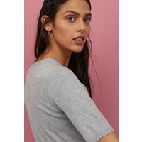H&M Cienki sweter 0678942031 Jasnoszary melanż