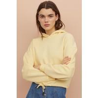 H&M Bluza z kapturem 0829200002 Jasnożółty