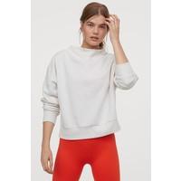 H&M Bluza treningowa 0805003001 Biały melanż