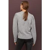 H&M Cienki sweter 0826498003 Jasnoszary melanż