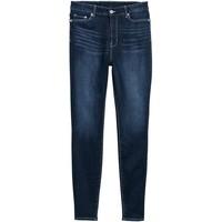 H&M H&M+ Skinny High Jeans 0573937006 Ciemnoniebieski denim