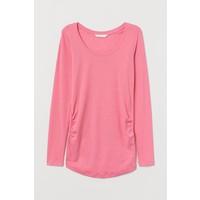 H&M MAMA Dżersejowy top 0820032001 Różowy melanż