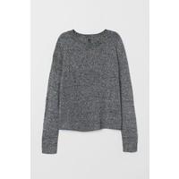 H&M Sweter 0679853033 Czarny melanż