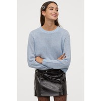 H&M Sweter 0679853033 Jasnoniebieski melanż