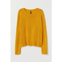 H&M Sweter 0679853033 Musztardowożółty