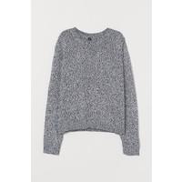 H&M Sweter 0679853033 Czarny/Biały melanż
