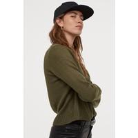H&M Sweter 0679853033 Leśna zieleń