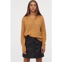 H&M Sweter 0679853033 Ciemnobeżowy