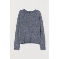H&M Sweter 0679853033 Niebieski melanż
