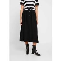 Calvin Klein BUTTON THROUGH SKIRT Spódnica trapezowa black 6CA21B00I