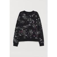 H&M Bluza 0754267064 Czarny/Gwiazdy