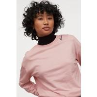 H&M Bluza 0754267064 Pudroworóżowy/Świecący