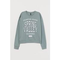 H&M Bluza 0754267064 Bladozielony/Spring Valley
