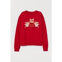 H&M Bluza 0754267064 Czerwony/Dear Santa