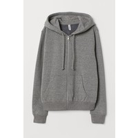 H&M Bluza z kapturem 0682550029 Szary melanż