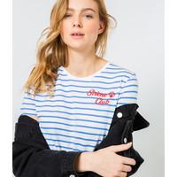 Camaieu T-shirt ze wzorem z bawełny ekologicznej 531762_2874H20/2874/TPIVOINE SLUB
