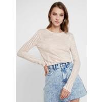 AllSaints ESME STRIPE Bluzka z długim rękawem ecru white/orange A0Q21D05X