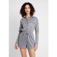 Missguided LONG SLEEVED PLAYSUIT Kombinezon silver M0Q21T085