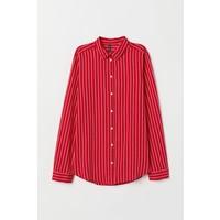 H&M Bawełniana koszula 0510043008 CzerwonyPaski  agi8p