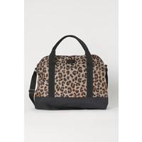 H&M Mała torba weekendowa 0753475008 Beżowy/Panterka