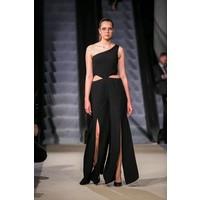 NAT Fashion Room Kombinezon czarny z rozcięciami