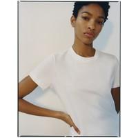 Reserved T-shirt z bawełny organicznej z mini nadrukiem YL756-00X