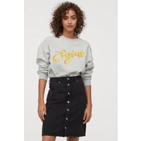 H&M Spódnica dżinsowa 0816796001 Czarny/Sprany