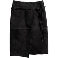 H&M Zamszowa spódnica 0612879001 Czarny