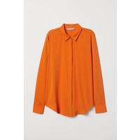 H&M Bluzka z długim rękawem 0695632047 Pomarańczowy