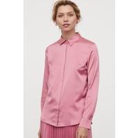H&M Bluzka z długim rękawem 0695632047 Różowy