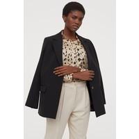 H&M Bluzka z długim rękawem 0695632047 Beżowy/Szylkretowy wzór