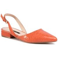 Baleriny Gino Rossi A45294-02 Pomarańczowy