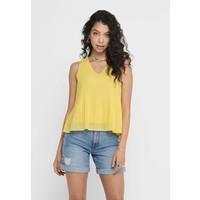 ONLY OBERTEIL PLISSEE Bluzka dusky citron ON321D254
