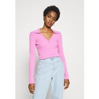 Weekday FLAVIA Bluzka z długim rękawem bright pink WEB21E03Z