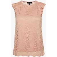 New Look SCALLOP FRILL SHELL Bluzka mid pink NL021D0N4