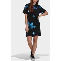 adidas Originals LARGE LOGO TEE DRESS Sukienka z dżerseju black AD121C062